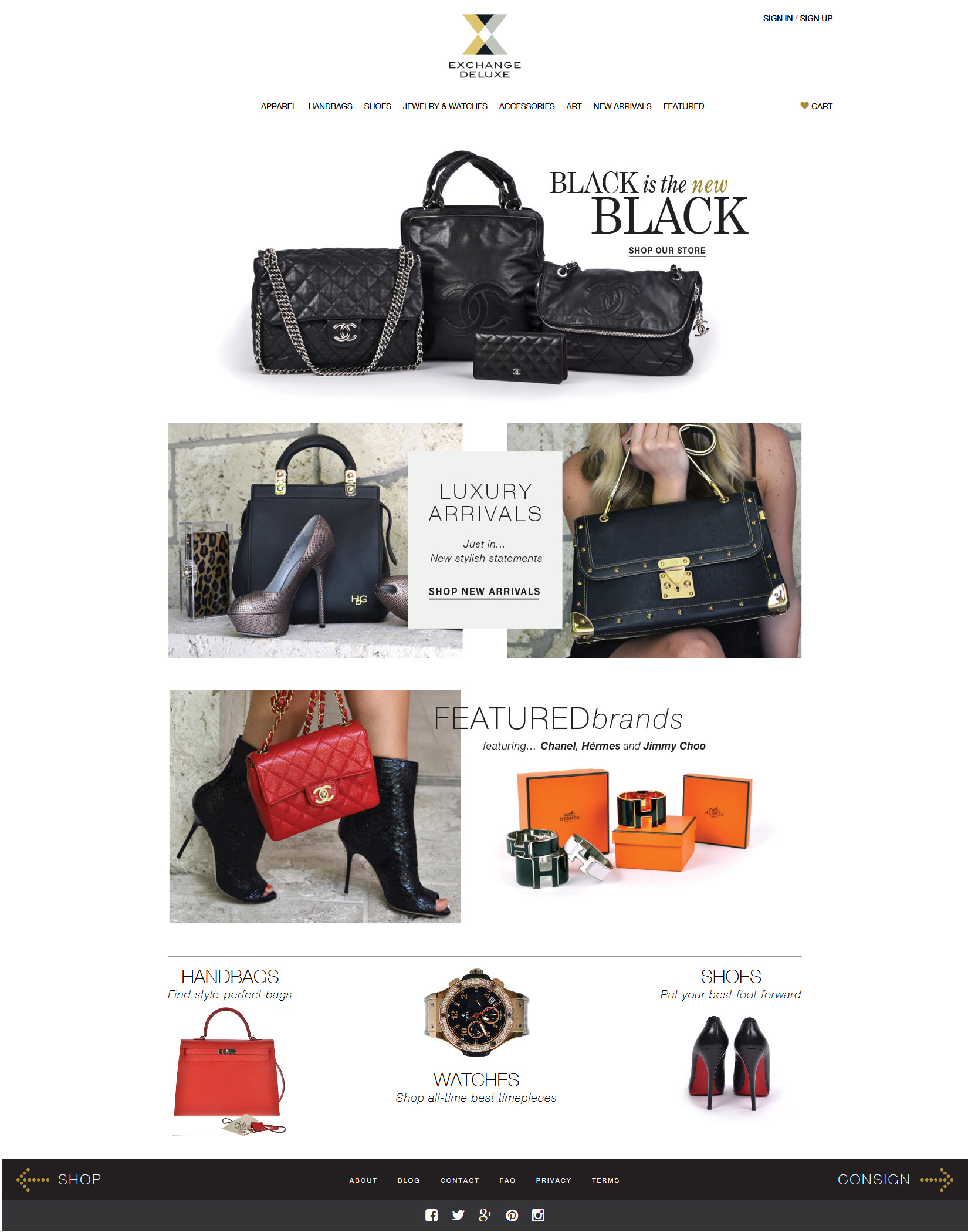 Exchange Deluxe Luxury Consignment ECommerce