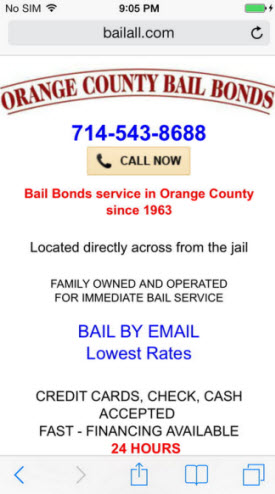 Orange County Bail Bonds Dynamic Mobile Site
